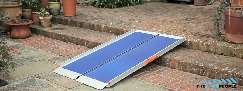 Get ramps with a special grip surface for safety