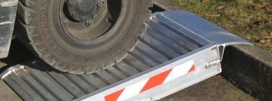 Aluminium container ramp