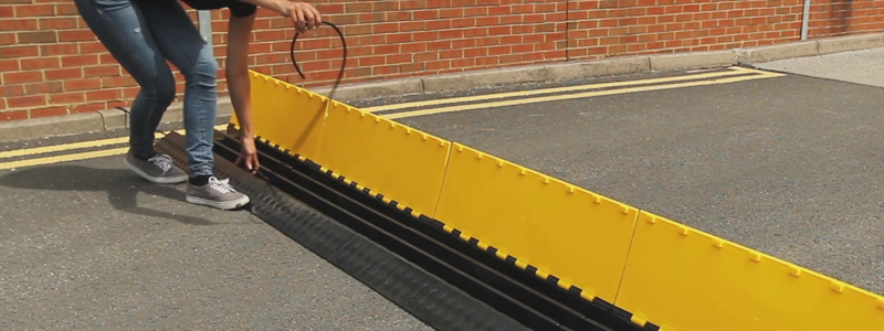 cable protectors for crowd safety and event management
