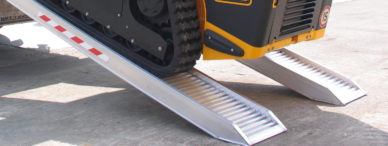 Loading ramps for plant machinery