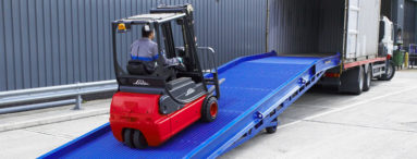 Mobile Yard Ramp loading into a container