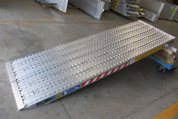 Milled Surface Ramps for Steel Track