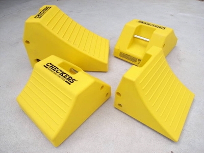 Checkers Wheel Chocks