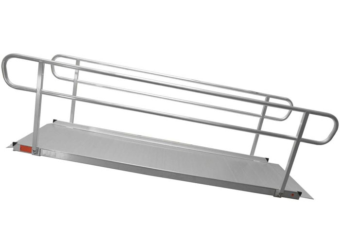 Easy Install Wheelchair Ramps With Handrails
