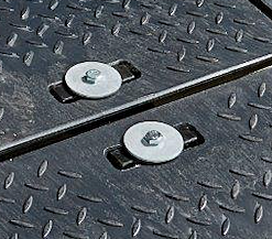Hand hold connectors for EuroTrak mats