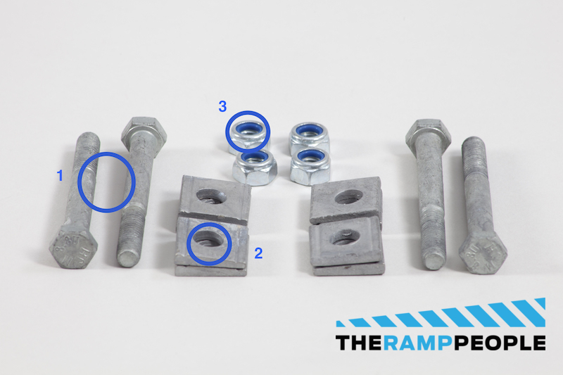 Modular Wheelchair Ramp System Fixings Diverse part 2