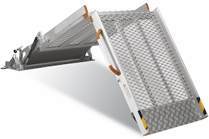 Twisty Folding Van Ramp Mesh Surface