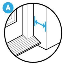 depth of door